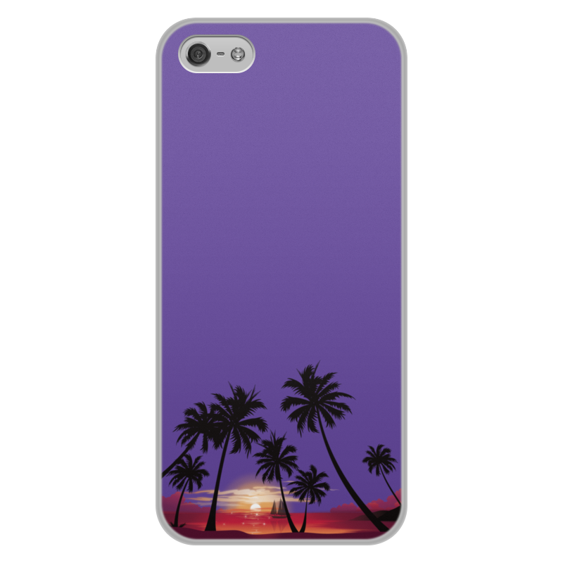 лучшая цена Чехол для iPhone 5/5S, объёмная печать Printio Острова в океане