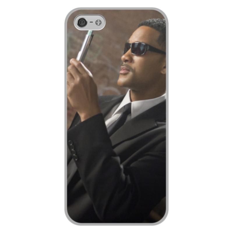 лучшая цена Чехол для iPhone 5/5S, объёмная печать Printio Вспышка - стирание памяти