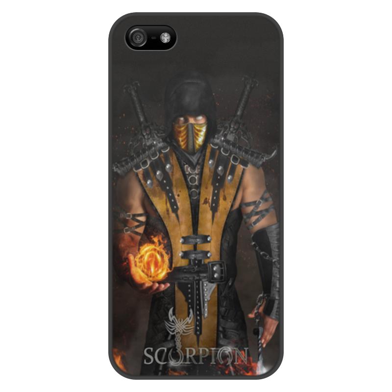 Чехол для iPhone 5/5S, объёмная печать Printio Mortal kombat (scorpion) цена и фото