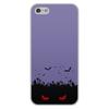 """Чехол для iPhone 5/5S, объёмная печать """"Взгляд оттуда"""" - хэллоуин, рисунок, взгляд, летучие мыши, кладбище"""