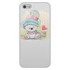 """Чехол для iPhone 5/5S, объёмная печать """"Медвежонок"""" - юмор, зима, рисунок, мультяшка, медвежонок"""