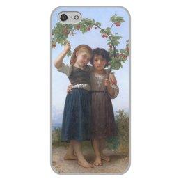 "Чехол для iPhone 5/5S, объёмная печать ""Вишневая ветвь (картина Вильяма Бугро)"" - дружба, картина, академизм, живопись, бугро"