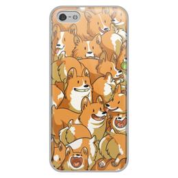 """Чехол для iPhone 5/5S, объёмная печать """"Корги """" - собаки, корги"""
