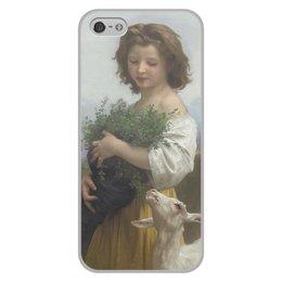 """Чехол для iPhone 5/5S, объёмная печать """"Юная Эсмеральда (картина Вильяма Бугро)"""" - картина, академизм, живопись, бугро, крестьянка"""