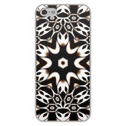 """Чехол для iPhone 5/5S, объёмная печать """"Кофейный"""" - подарок, абстракция, фрактал, digital art, спектр"""