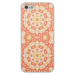 """Чехол для iPhone 5/5S, объёмная печать """"Нежный."""" - арт, узор, абстракция, фигуры, текстура"""