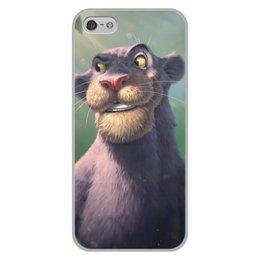 """Чехол для iPhone 5/5S, объёмная печать """"Багира"""" - кошки"""