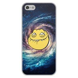 """Чехол для iPhone 5/5S, объёмная печать """"космос mem"""" - мем, смешные, лицо, космос, mem"""