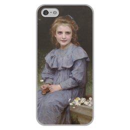 "Чехол для iPhone 5/5S, объёмная печать ""Маргаритки (картина Вильяма Бугро)"" - цветы, картина, академизм, живопись, бугро"