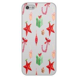 """Чехол для iPhone 5/5S, объёмная печать """"новый год"""" - конфеты, новый год, подарки, рождество, christmas"""