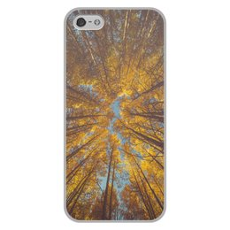 """Чехол для iPhone 5/5S, объёмная печать """"Осень"""" - осень, пушкин, урожай, прохлада, туманы"""