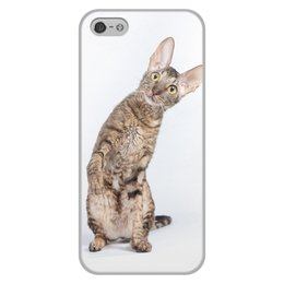 """Чехол для iPhone 5/5S, объёмная печать """"Корниш-рекс"""" - кошки"""