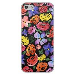 """Чехол для iPhone 5/5S, объёмная печать """"цветочки"""" - лето, цветы, узор, природа, цветочки"""