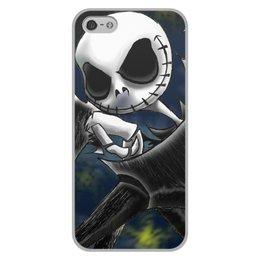 """Чехол для iPhone 5/5S, объёмная печать """"Jack Skellington"""" - джек, скелеты"""