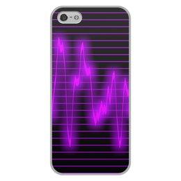 """Чехол для iPhone 5/5S, объёмная печать """"Мелодия"""" - музыка, узор, звук, краски, звуковая волна"""