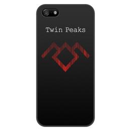 """Чехол для iPhone 5/5S, объёмная печать """"Твин Пикс"""" - сериал, twin peaks, твин пикс"""