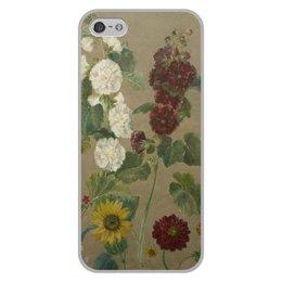 """Чехол для iPhone 5/5S, объёмная печать """"Цветы (картина Эжена Делакруа)"""" - цветы, картина, живопись, делакруа, романтизм"""