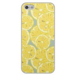 """Чехол для iPhone 5/5S, объёмная печать """"лимоны"""" - лето, фрукты, лимон, лимоны, цитрусовые"""