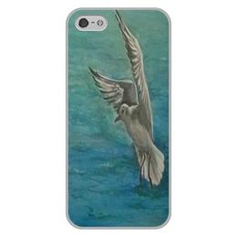 """Чехол для iPhone 5/5S, объёмная печать """"Чайка"""" - море, свобода, чайка"""