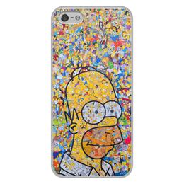 """Чехол для iPhone 5/5S, объёмная печать """"Симпсоны"""" - гомер, симпсоны, гомер симпсон, the simpsons, gomer"""