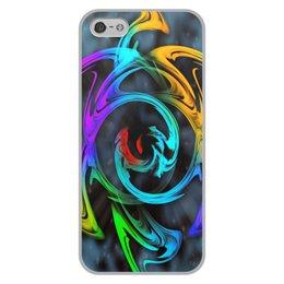 """Чехол для iPhone 5/5S, объёмная печать """"Узор красок"""" - цветы, космос, пятна, краски, абстракция"""
