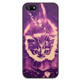"""Чехол для iPhone 5/5S, объёмная печать """"Без названия"""" - животные, ночь, яркий, дизайнерский, интересный"""