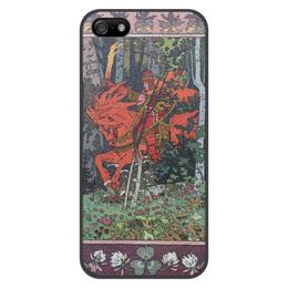 """Чехол для iPhone 5/5S, объёмная печать """"Красный всадник (Иван Билибин)"""" - картина, сказка, живопись, богатыри, билибин"""