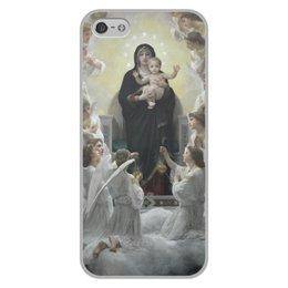 """Чехол для iPhone 5/5S, объёмная печать """"La Vierge aux anges (картина Вильяма Бугро)"""" - картина, академизм, живопись, христианство, бугро"""
