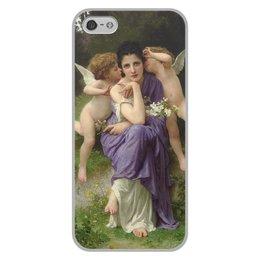 "Чехол для iPhone 5/5S, объёмная печать ""Песни весны (картина Вильяма Бугро)"" - картина, академизм, живопись, мифология, бугро"