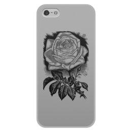 """Чехол для iPhone 5/5S, объёмная печать """"Цветок"""" - цветы, роза, розы, букет, шипы"""