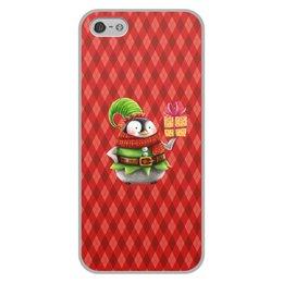 """Чехол для iPhone 5/5S, объёмная печать """"пингвин"""" - новый год, зима, птицы, подарки, пингвин"""