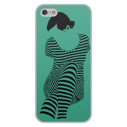 """Чехол для iPhone 5/5S, объёмная печать """"""""Раздвоение личности"""""""" - настроение, оригинальный, хеллоуин, стройность, раздвоение личности"""