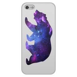 """Чехол для iPhone 5/5S, объёмная печать """"Space animals"""" - space, bear, медведь, космос, астрономия"""