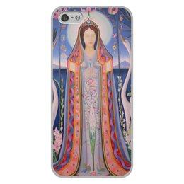 """Чехол для iPhone 5/5S, объёмная печать """"Дева (картина Джозефа Стеллы)"""" - картина, живопись, футуризм, абстракционизм, стелла"""
