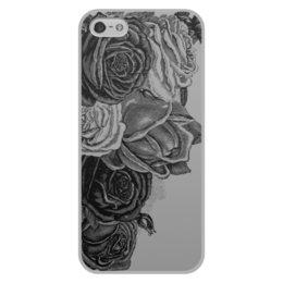 """Чехол для iPhone 5/5S, объёмная печать """"Букет роз"""" - цветы, роза, розы, букет, шипы"""
