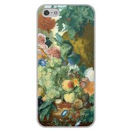 "Чехол для iPhone 5/5S, объёмная печать ""Фрукты и цветы (Ян ван Хёйсум)"" - цветы, картина, живопись, натюрморт, ян ван хёйсум"