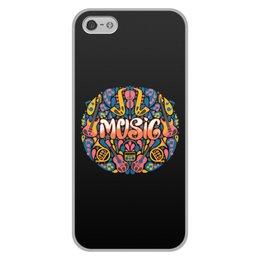 """Чехол для iPhone 5/5S, объёмная печать """"Music"""" - музыка, music, музыкальные инструменты, ноты"""