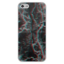"""Чехол для iPhone 5/5S, объёмная печать """"Молния"""" - узор, космос, краски, абстракция, молния"""