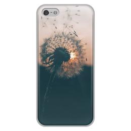 """Чехол для iPhone 5/5S, объёмная печать """"Одуванчик"""" - цветы, одуванчик"""
