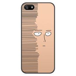 """Чехол для iPhone 5/5S, объёмная печать """"Сайтам"""" - аниме, saitama, сайтама, one punch man, ванпанчмен"""