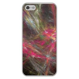 """Чехол для iPhone 5/5S, объёмная печать """"Абстрактный дизайн"""" - графика, абстракция, линии, авангард, лучи"""