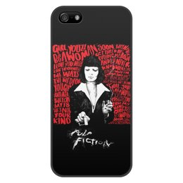 "Чехол для iPhone 5/5S, объёмная печать ""Pulp Fiction (Ума Турман)"" - ума турман, тарантино, криминальное чтиво, pulp fiction, культовое кино"