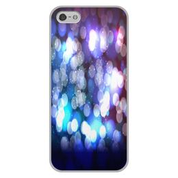 """Чехол для iPhone 5/5S, объёмная печать """"Блики света"""" - краски, блики, блеск, вспышки, солнечные зайчики"""