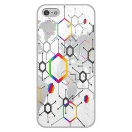 """Чехол для iPhone 5/5S, объёмная печать """"Формула"""" - узор, текстура, формула, химия, молекулы"""