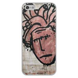"Чехол для iPhone 5/5S, объёмная печать ""the head"" - streetart, street art"