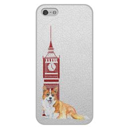 """Чехол для iPhone 5/5S, объёмная печать """"Моя любимая собака"""" - собака, рыжий, новыйгод, корги, вельшкорги"""