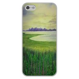 "Чехол для iPhone 5/5S, объёмная печать ""Прованс"" - франция, луга, лаванда, прованс"