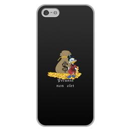 """Чехол для iPhone 5/5S, объёмная печать """"Деньги не пахнут. Деньги. Скрудж Макдак. """" - цитаты, money, утиные истории, duck tales, скрудж макдак"""