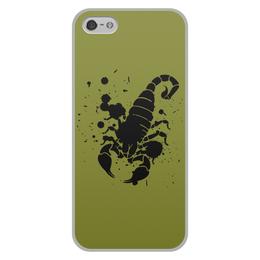 """Чехол для iPhone 5/5S, объёмная печать """"Скорпион (24.10-21.11)"""" - крутой, оригинальный, стильный, скорпион, биология"""