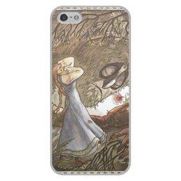 """Чехол для iPhone 5/5S, объёмная печать """"Аленький цветочек"""" - девушки"""